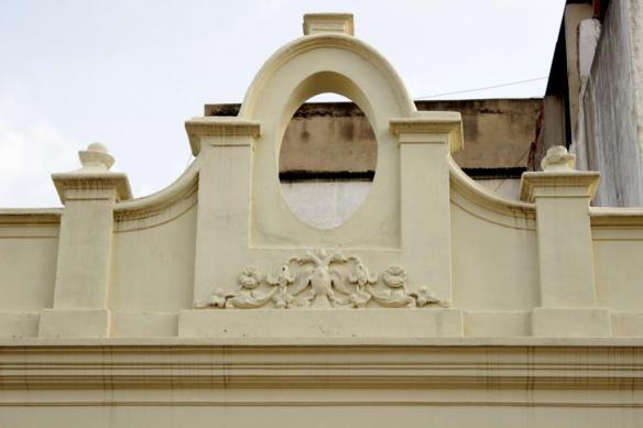 The Ganda Berunda symbol on the roof.