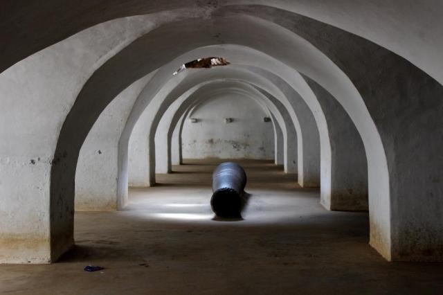 Cells where Baillie was said to have been held prisoner at Srirangapatna.Baird's prison no longer exists.